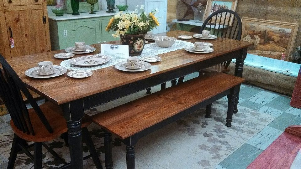 Osborne Wood Products Blog Beautiful Farm Table With Matching Bench And Chairs