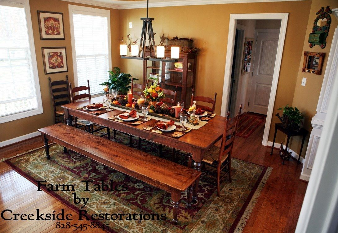 Picture of: Osborne Wood Products Blog Matching Farm Style Dining Table And Benches In Knotty Pine